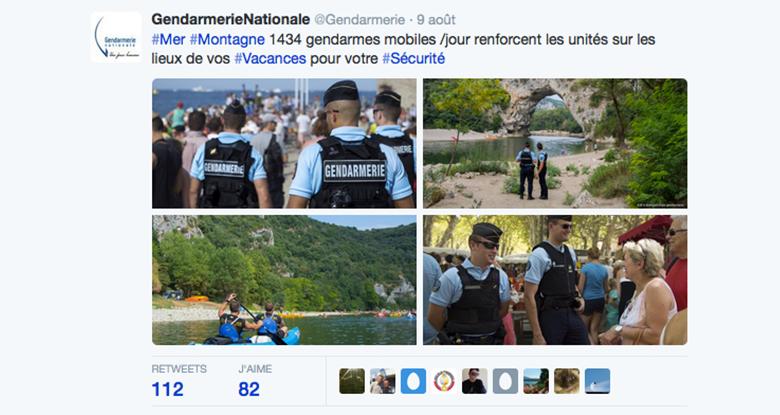 Les gendarmes sur Twitter : une stratégie gagnante
